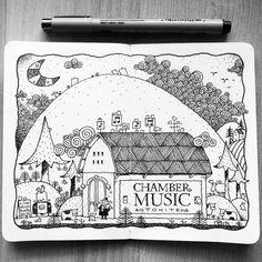 Dave Garbot — Concert Night #illustration #drawing #penandink...