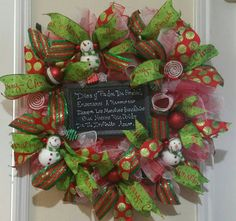 Check out this item in my Etsy shop https://www.etsy.com/listing/259838227/quick-custom-order-christmas-wreath
