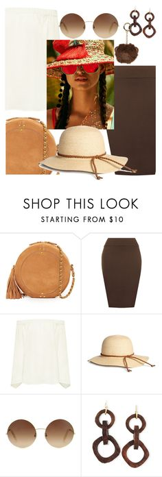 """Circle bag: brown chic"" by oneatwphogeebaby ❤ liked on Polyvore featuring Jérôme Dreyfuss, WearAll, Finders Keepers, Victoria Beckham, NEST Jewelry, Dorothy Perkins and CircleBags"