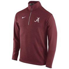 3b713081 Mens Alabama Crimson Tide Nike Crimson Football Coaches Sideline Half Zip  Knit Performance Jacket