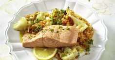 The best Steamed Salmon on a bed of Spicy Red Lentil and Cauliflower Salad recipe you will ever find. Welcome to RecipesPlus, your premier destination for delicious and dreamy food inspiration. Lentil Recipes, Salad Recipes, Vinaigrette, Red Lentil Salad, Chili, Cauliflower Salad, Lentils, Food Inspiration, Cooking