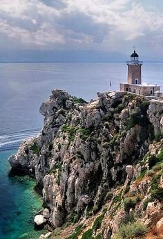 Melagavi #lighthouse ~ Heraion, Corinthia, #Greece…