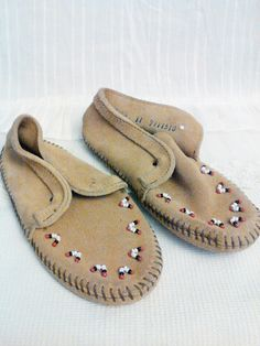 Moccasin Minnetonka moccasins child moccasin kids moccasins by SpareChangeVintage on Etsy
