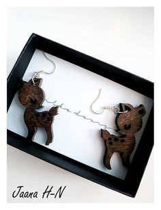 Hand made in Finland. So lovely! These are extremely lightweight. Bambi, Finland, Frame, Earrings, How To Make, Handmade, Accessories, Design, Home Decor
