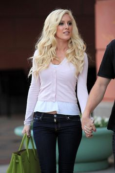 cardigan denim look heidi montag