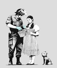 Bansky! Love this art piece he did!