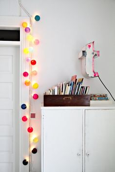 Interior, Beautiful Interior Decoration with Various String Lights: Colorful String Light For Door Frame Accessories Ball Lights, String Lights, Interior Design Inspiration, Room Inspiration, Happy Lights, Light Garland, Kid Spaces, Kids Decor, Beautiful Interiors