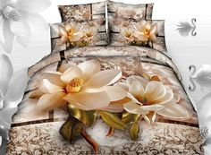 The Most Beautiful Love Magnolia 3D Bedding Sets 3D Bedding Sets