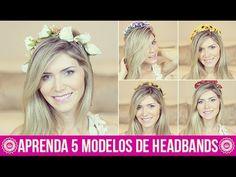 DIY: Aprenda a fazer 5 modelos de Headbands! • Faça você mesmo Coroa de ...flores tiaras