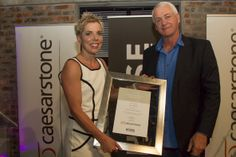 Santa Eksteen receiving her award