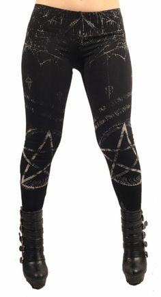 Amazon.com: Lip Service Clothing Pentagram Leggings Gothic Leggings: Clothing