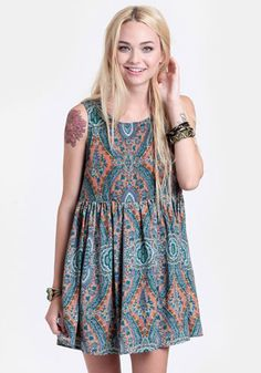 Seeking Enlightenment Babydoll Dress 40.00 at threadsence.com