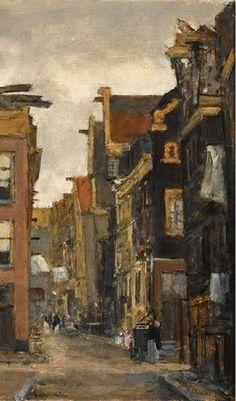 Floris Arntzenius - Gezicht op de Kerkstraat te Amsterdam