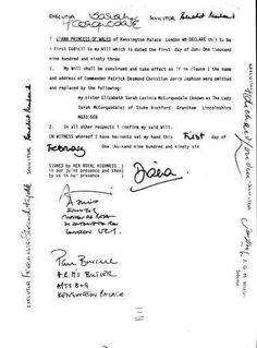 Princess Diana's Will, 1997