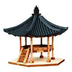 Wooden Model House Kits Korea Series- Korean-Style Gazebo 4