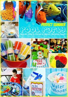Kiddy Party Beach Luau Mermaids Under The Sea On Pinterest Beach Party Pool Parties And