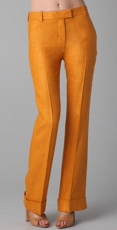 Phillip Lim cuffed flared trousers.