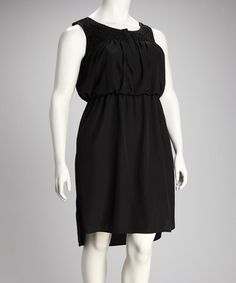 Take a look at this Black Dress - Plus by Jessica Simpson Collection on #zulily today!