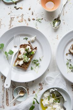 Rye Soda Bread and Homemade Goat's Curd