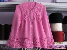 Красивая кофточка для девочки - Вязание для детей - Страна Мам