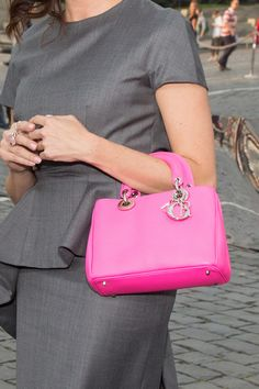 The Lady Dior Bag - Miniature in highlighter pink!