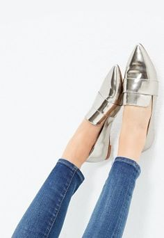 the Leandra loafer in Metallic   Madewell.com
