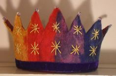 Waldorf Crown Rainbow Brights and stars. by SusannaW on Etsy