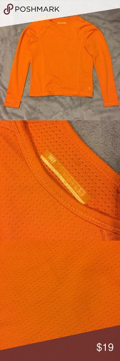 LUCY orange perforated Long Sleeve LUCY orange perforated Long Sleeve Lucy Tops Tees - Long Sleeve