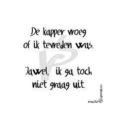 Kapper #spreuk #humor #tekst