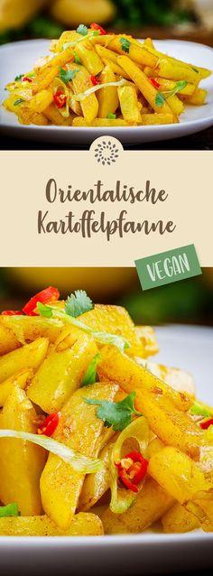 Orientalische Kartoffelpfanne #rezept #vegan #kartoffeln #chili #koriander