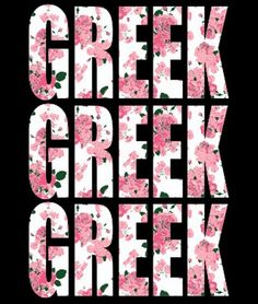 YOU ARENT DOING IT RIGHT IF YOU ARENT GOING GREEK