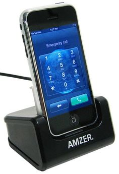 Amzer Desktop Cradle for iPhone 1G/2G. Smart Charge Technology. Easy to Use.