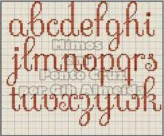 Resultado de imagen para monogramas ponto cruz letras maiusculas minusculas