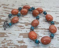 Orange & Blue Bohemian Style Necklace