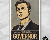 Vote For The Governor - 12 x 18 inches - The Walking Dead - Philip Blake - The Governor