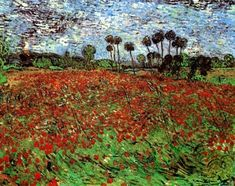 Field with Poppies, Vincent van Gogh Medium: oil,canvas