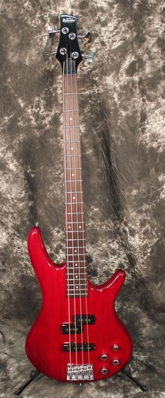 Ibanez GSR200 4-String Electric Bass Guitar Transparent Red