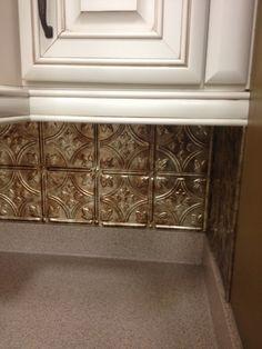 Ceiling tile backsplash yahoo image search results kitchen ideas pinterest - Kuchenruckwand selbst gestalten ...