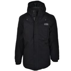Adidas Mens Black Winter Cargo Parka Jacket Coat « Impulse Clothes