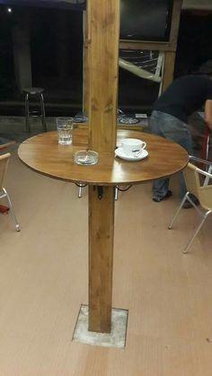 Demir profili ahşap ile kaplama ve madif desk.