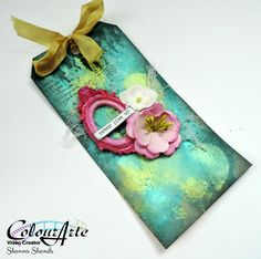 Altered Tag with Primary Elements Arte Pigment Mist by Shanna