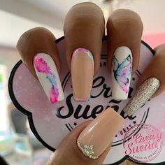 Acrylic Nail Designs, Acrylic Nails, Love Nails, My Nails, Beautiful Nail Designs, Nail Decorations, Beauty Nails, Pedicure, Nailart