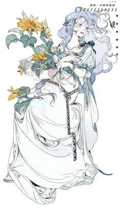 Girls Anime, Anime Art Girl, Manga Art, Fantasy Character Design, Character Design Inspiration, Character Art, Pretty Art, Cute Art, Character Illustration