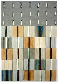 'Fragment II', Ceramic Wall Panel, 66 x 45 cm by Clare Crouchman