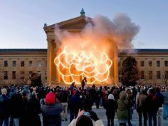 Cai Guo-Qiang Fallen Blossoms Explosion Project on the East Terrace, December 11, 2009