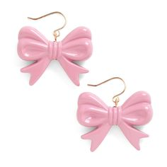 Hum a New Toon Earrings ($9.99) ❤ liked on Polyvore featuring jewelry, earrings, accessories, bows, pink, bow earrings, pink jewelry, earrings jewelry, bow jewelry and nickel free earrings