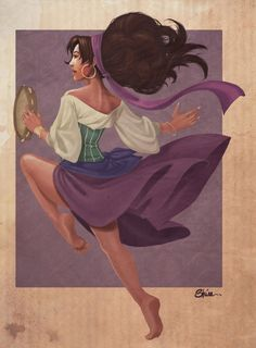 Another fanart of Esmeralda from the Hunchback of Notre-Dame de Paris Emeraude Disney Artwork, Disney Fan Art, Disney Love, Disney Magic, Esmeralda Disney, Atlantis The Lost Empire, Disney Princess Art, Fan Picture, Circle Of Life