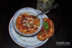 English breakfast 2.0 bön- & baconsoppa med bruschetta