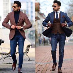 "15.1k Likes, 113 Comments - Mens Fashion Influencer (@mensuitsteam) on Instagram: ""1 or 2?? @makanveli ✔️✔️"""