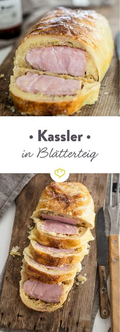 Smoked pork pastry- Kassler im Blätterteigmantel Do you love smoked pork, mashed potatoes and hearty sauerkraut? Combine grandma& hearty recipes into a fantastic Kassler roll in puff pastry. Smoked Beef Brisket, Smoked Pork, Sauerkraut, Pork Recipes, Cooking Recipes, Good Food, Yummy Food, Smoker Cooking, Different Recipes
